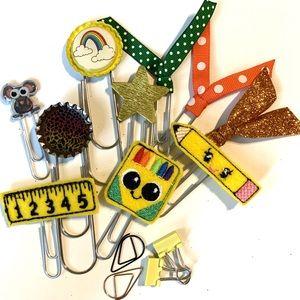 Planner accessories paper clip set